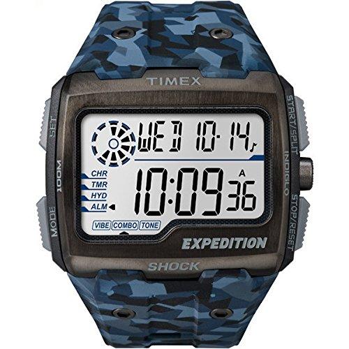 Timex choc grille d'expédition Mens camo bleu TW4B07100