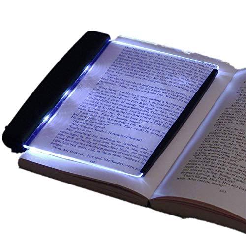YMKT Luz de lectura LED, portátil, ultrafina, placa plana, panel de lectura, LED, estudiantes, visión nocturna, protección de ojos, lámpara de libro para leer en la cama