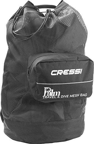 Cressi Palm Bag Mochila Ligera para el Transporte del Equipo, Negro, 92 L