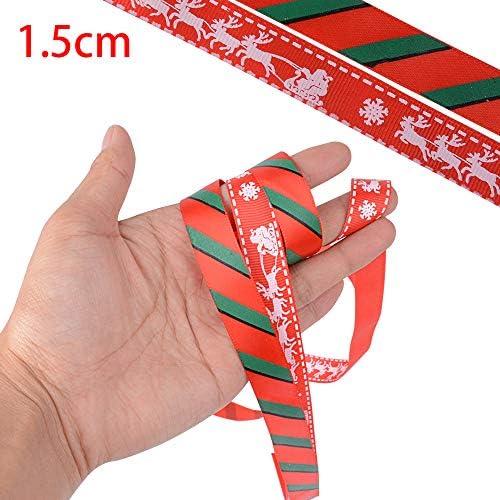 Breit Ripsband Dekoband f/ür Weihnachten Baum Basteln Deko ZAWTR Rot Weihnachtsb/änder Schleifenband mit Merry Christmas zum Geschenk Verpackung Weihnachten Geschenkband Satinband 20mm, 10Yard