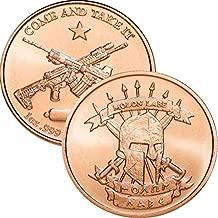 1 oz .999 Pure Copper Round/Challenge Coin (Molon Labe [Come & Take Them])