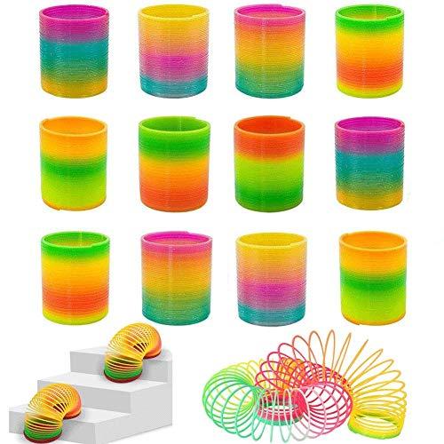 Jiada Colourful Rainbow Magic Spring Coil - Birthday Return Gifts (Pack of 12)