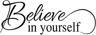 KYSUN Believe in Yourself Vinyl Wall Decal Inspirational Wall Phrase Positive Motto Handwriting Art Letters Home Decor