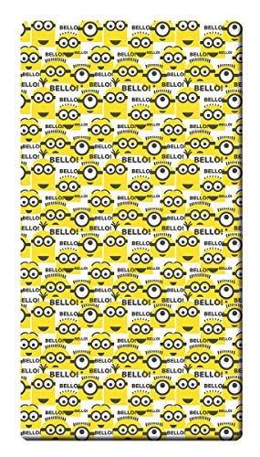 Global Labels Minions Renforcé Spannbetttuch Bello Spannbettlaken Bettlaken 100x200cm Rundgummi