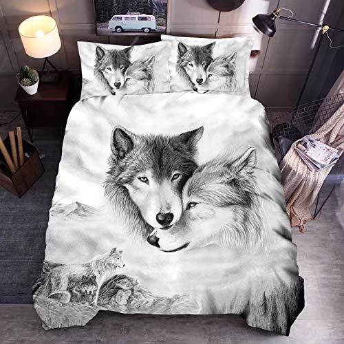 Duvet Big Slab Little Love Wolf 3D bedding quilt cover pillowcase single double bed