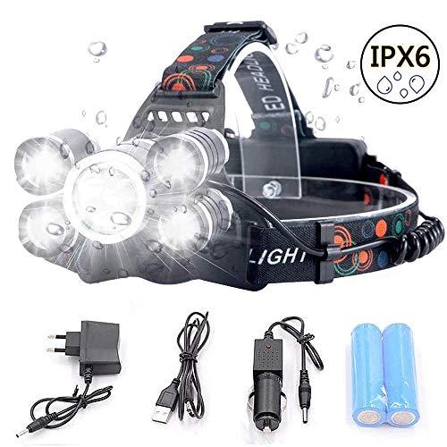 bester Test von head super joy Lenser LED-Scheinwerfer, wiederaufladbare Scheinwerfer, 5 Lampen, 4 Modi, IPX6, wasserdicht, 6000 Lumen…