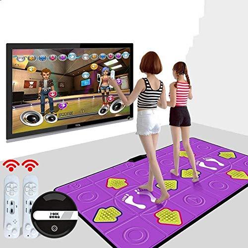 LJXiioo Tanz Teppich HD-Spielekonsole Gewicht verlieren Laufen drahtlose Technologie Arcade-Stil Tanzspiele für Erwachsene/Kinder