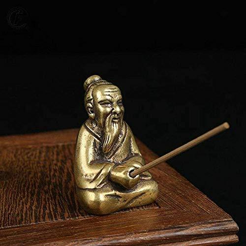 Statue en cuivre Taoism Lao-Tse LaoZi - Décoration pour la maison