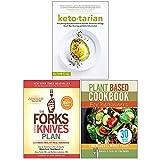 Ketotarian, Forks Over Knives Plan, Plant Based Cookbook For Beginners 3 Books Collection Set