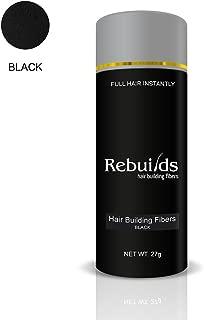 Rebuilds Hair Fibers, Black, 27g