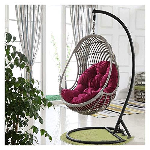 Cojines al aire libre para Sillas de Patio Oscilación del cojín de la silla, colgantes de huevo Hamaca Silla de ratón, sin soporte multi del color oscilación del asiento acolchado grueso for sillas ni
