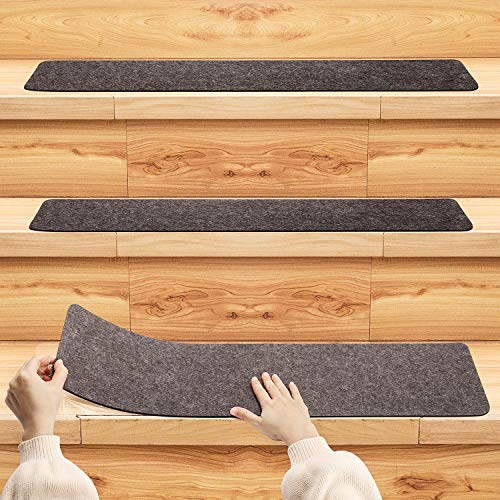 Pretigo Non Slip Carpet Stair Treads,Set of 14,Safety Slip Resistant for Kids,Elders,and Dogs