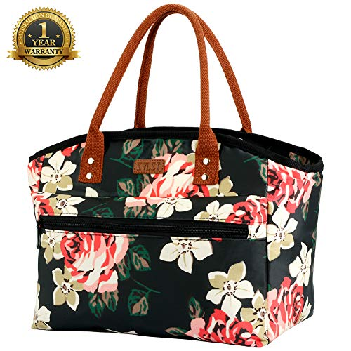 Lunch Bags for Women Large Insulated Lunch Box Waterproof Tote Bag Reusable Thermal Snacks Cooler Bag for Work Pacnic Beach Fishing Bento Lunch Bag
