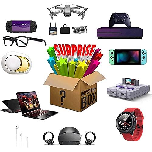 Caja misteriosa Mystery Box Electronic Product Lucky Surprise Box Box Smart Reloj Inalámbrico Cargador Impresora Teléfono Altavoz Computadora Bluetooth Auriculares Gamepad Cumpleaños Regalo Random