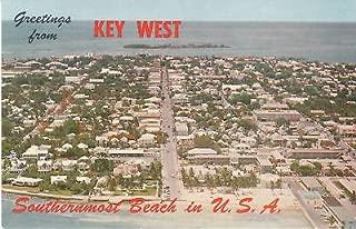 F5965 FL, Key West Aerial View Postcard