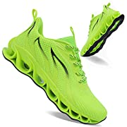 Fashion Low-top Sneakers: easy to put on and take off the laces. Insole Honeycomb Design: keep your feet balanced, absorb vibration and maximize ventilation. Upper: Made of breathable mesh fabric, which allows your feet to breathe freely when running...