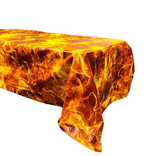 Fire Table Covers (2), Fire Party Supplies, Fire Table Setting