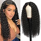 Lace Front Wigs Human Hair Curly Brazilian Lace Frontal Human Hair Wigs for Black Women Glueless 150% Density 4x4 Lace Closure Wig Pre Plucked Natural Color 22 inch