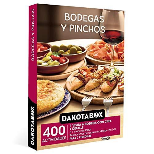 DAKOTABOX - Caja Regalo hombre mujer pareja idea de regalo - Bodegas y pinchos - 400 actividades gastronómicas en restaurantes de tapas o prestigiosas bodegas con D.O.