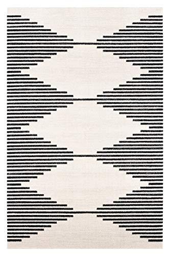 Poly and Bark Mekko 6'x9' Area Rug, 6' x 9', Mist White