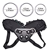 "Strap-on Harness Adjustable Universal Adult Sex Toy with 3 Different Sized O-Rings Suction Cup Dildo Compatible Harness, Accommodates up to 59"" Waist"