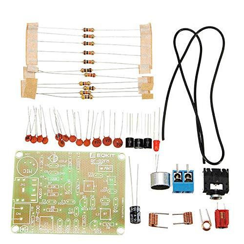 KASILU Dlb0109 3pcs FM Transmisurter Kit RF-02 Sintonizador Piezas de micrófono Repetidor MP3 Micro Transmisor con Antena Alto Rendimiento
