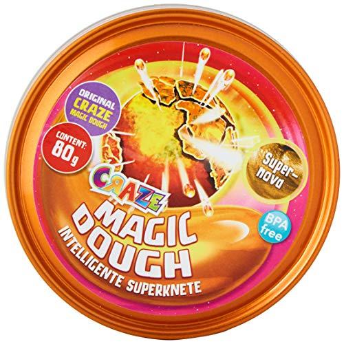 CRAZE 17098 MAGIC DOUGH SPIEL MIT MIR Superknete Duftknete Kinder Knete Dose 80g Glitzer Farbwechsel Flüssiges Glas 18613 mehrfarbig