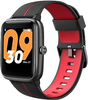 TicKasa Vibrant fitness akıllı saat, erkekler ve kadınlar için, 5 ATM su geçirmezlik, nabız izleme, 10 gün pil ömrü, enteg...