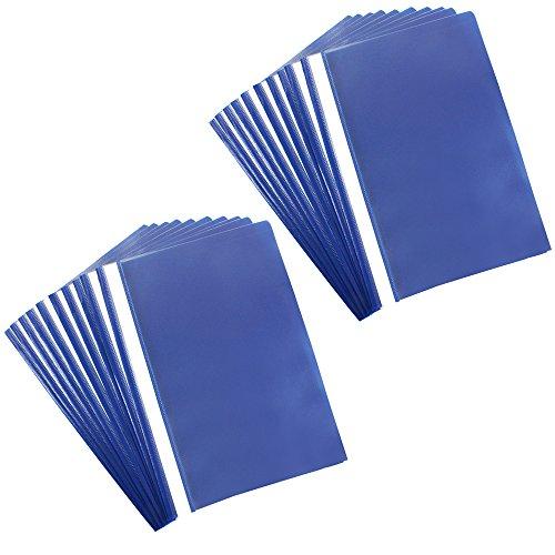 com-four® 20x Schnellhefter DIN A4 - Hefter mit Beschriftungsstreifen - Kunststoffhefter für Schule, Büro und zu Hause - PVC-frei (20 Stück - blau)