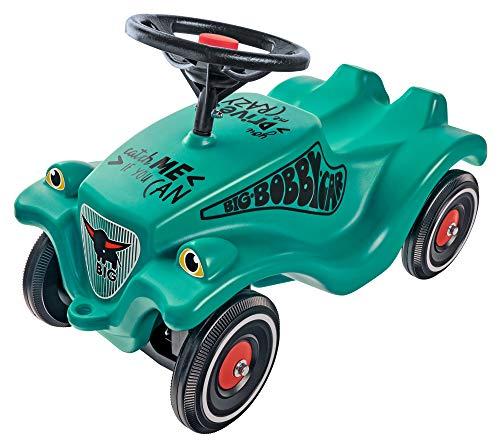 BIG-Bobby-Car-Classic Racer 2 - Kinderfahrzeug mit zwei verschiedenen Aufklebern, für Jungen und Mädchen, belastbar bis zu 50 kg, Rutschfahrzeug für Kinder ab 1 Jahr