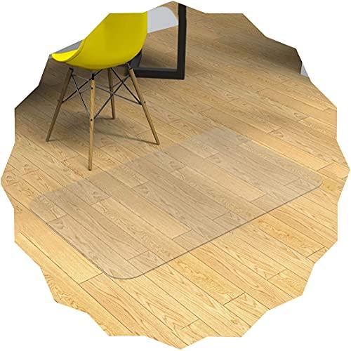 Yibcn Protector rectangular para silla, alfombrillas transparentes de protección para el suelo para sillas rodantes, bueno para escritorios, oficina y hogar, protege el suelo, transparente