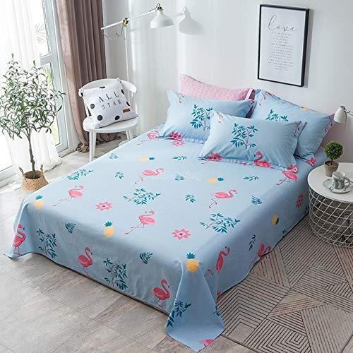 Hllhpc 2019 blauw blad bedrukt plat vel zacht warm 100% katoen bed bed zonder kussenslopen
