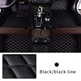 Car Floor Mat Custom Made For 95% of Car Models Full Coverage Interior Protection Waterproof Non-Slip Leather Mat Black