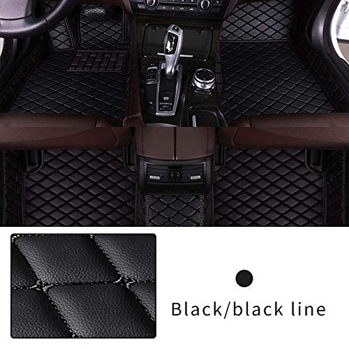 Car Floor Mat Custom Made For Most models Full Coverage Interior Protection Waterproof Non-Slip Leather Mat Black
