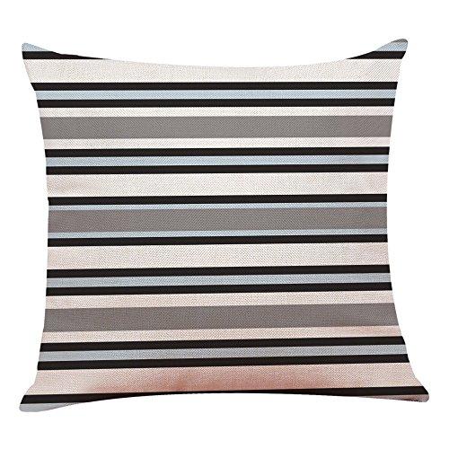 ZOUMOOL_ Pillow Cases Funda de Almohada de 45 x 45 cm, diseño de Rayas