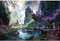 ジグソー風景ジグソーパズルアルパイン流れる水パズル大人の減圧パズルゲーム、画像はカスタマイズできます