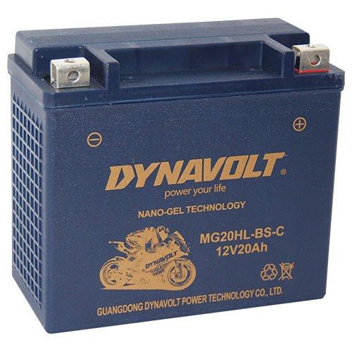 DG MG20HL-BS-C (YTX20HL-BS) DIN82000G wartungsfreie GEL Batterie Dynavolt, 20Ah, LxBxH: 175 x 87 x 155mm