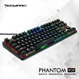 Tecware Phantom 87 Touches Clavier mécanique, LED RVB Outemu Brown (US Layout ANSI)
