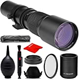 Opteka 500mm/1000mm f/8 Manual Telephoto Lens for Canon EOS EF-Mount 90D, 80D, 77D, 70D, 60D, 60Da, 1Ds, Mark III II 7D, 6D, 5D, 5DS, Rebel T8i, T7i, T7s, T7, T6s, T6i, T6, T5i, T5, T4i, SL3, SL2