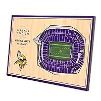 YouTheFan NFL Minnesota Vikings Unisex Minnesota VikingsDesktop Stadium View, Wood Grain, Desktop