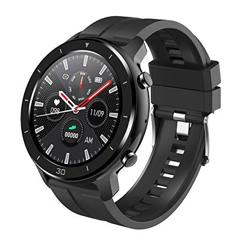 M18 ECG PPG Smart Watch Men's 24H Presión Arterial Oxígeno Monitoreo De Ritmo Cardíaco 1.3'Pantalla OLED Smartwatch Bluetooth Deportes Pulsera para Android iOS,A