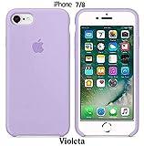 Funda Silicona para iPhone 8 iPhone 7, SE 2ª generación, Silicone Case Calidad, Textura Suave, Forro Interno Microfibra (Violeta)