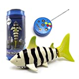 eMart Mini Remote Control Toy Electric RC Fish Boat Shark Ship Swim in Water for Kids Gift (Yellow)