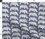 Nashorn, Tier, Safari, Afrika, Marmor Stoffe - Individuell