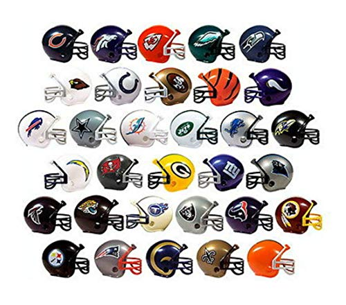 COLIBROX NFL Collectible 32 Teams Mini Helmets Set, 2-inch Each