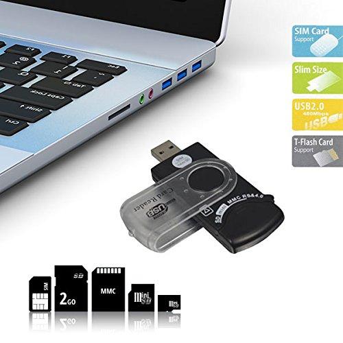 Universal-USB-Lesegerät, 14in 1Für SIM- und SD-Karten, schnelle Datenübertragung