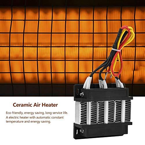 Keramische luchtverwarmer, geïsoleerde PTC-PTC verwarmingselementen met 12 V en 150 W.