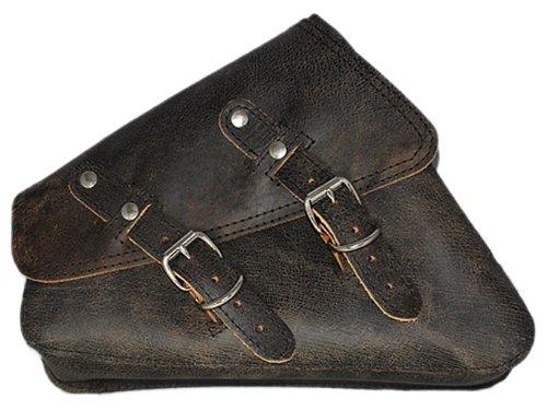 La Rosa Design 2004 Up Sportster Left side Black PU Leather Solo Bag.