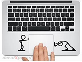 Stick Figure Trackpad- Decal Sticker for MacBook, Air, Pro All Models