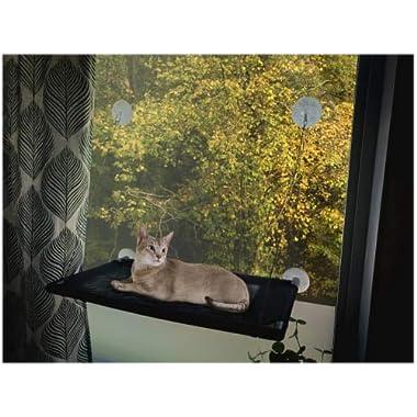 Junglecatt Cat Window Perch. Best Cat Window Perch Hammock with Extra Strong Suction Cups.